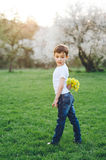 Surprise, gift, birthday, mothers day, son, love, spring, summer Stock Image