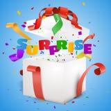 Surprise gift box Royalty Free Stock Photos