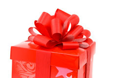 Surprise gift with red ribbon ,isolated o Stock Photos