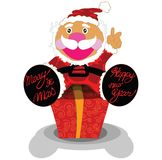 Surprise gift with Santa cartoon design Stock Photography
