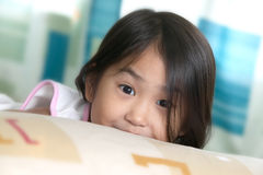 Surprise girl. Surprise look from little girl royalty free stock image