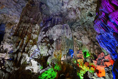 In Surprise Grotto (Hang Sung Sot), Halong bay. Vietnam royalty free stock photo