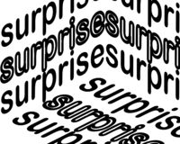 Surprise inscription. Surprise Calligraphy Hand. Lettering Vector stock illustration