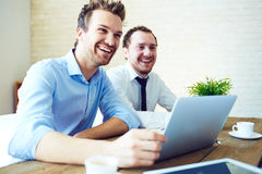 Surprise at interview Stock Photography