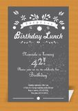 Surprise invitation card. Surprise birthday celebration invitation card Stock Photography
