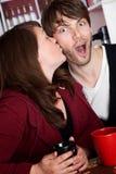 Surprise Kiss Royalty Free Stock Photos