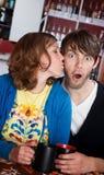 Surprise Kiss Stock Images
