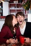 Surprise Kiss Stock Photo