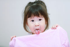 Surprise little girl Stock Photo