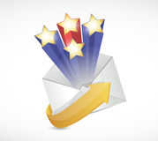 Surprise mail illustration design Royalty Free Stock Photos