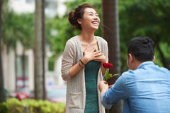 Surprise Marriage Proposal Royalty Free Stock Photo