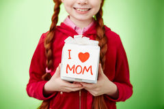 Surprise for mom Stock Photography
