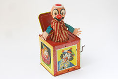 Surprise music box toy Royalty Free Stock Photography