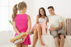 Surprise for parents Royalty Free Stock Image