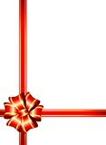 Surprise party bow. Festive layout for a surprise present Stock Images