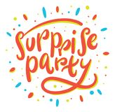 Surprise party hand drawn vector lettering. Surprise party hand drawn vector lettering isolated on white background vector illustration