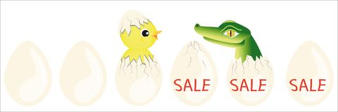 Surprise on sale eggs Royalty Free Stock Photo
