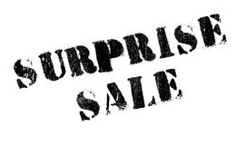 Surprise Sale rubber stamp Royalty Free Stock Photo