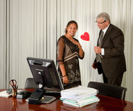 Surprise on Secretary Day Royalty Free Stock Image
