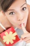 Surprise secrète de cadeau Images stock