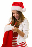 Surprise in a stocking Royalty Free Stock Image