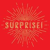 surprise text sunrays retro theme Stock Photography