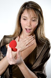 Surprise valentine's day Royalty Free Stock Photos