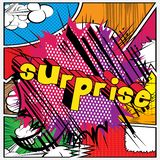 Surprise - Comic book style word. Surprise - Vector illustrated comic book style phrase on abstract background royalty free illustration