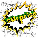Surprise - Comic book style word. Surprise - Vector illustrated comic book style phrase on abstract background vector illustration