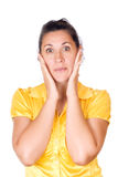 Surprise - A very surprised girl Royalty Free Stock Photo