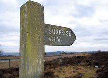 Surprise View Sign post, Derbyshire Peak District Royalty Free Stock Image