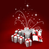 Surprise white gifts Royalty Free Stock Photos