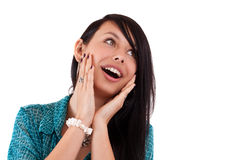 Surprise woman Royalty Free Stock Images