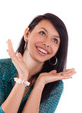Surprise woman Stock Images