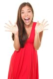 Surprise Woman Happy Screaming Joyful Stock Image