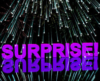 Surprise Word And Fireworks Showing Shock. And Celebrations stock illustration