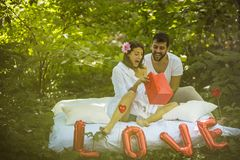 Surprise you Girlfriend all the time. Couple relationship stock image