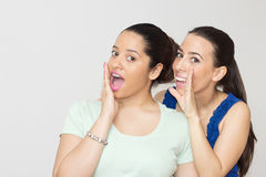 Surprise young women Royalty Free Stock Photo