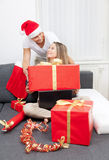 Surprise your partner with the perfect present Stock Images
