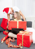 Surprise your partner with the perfect present Royalty Free Stock Photos