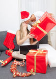 Surprise your partner with the perfect present Stock Photography