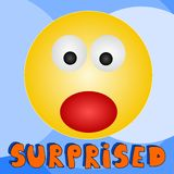 Surprised. An illustration of a surprised emoticon royalty free illustration