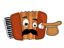 Surprised accordion illustration Royalty Free Stock Image