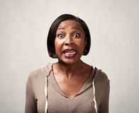 Surprised african american woman portrait Royalty Free Stock Images