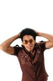 Surprised African Man Stock Photo