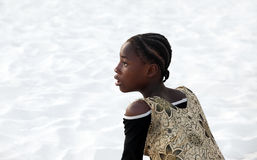 Surprised African teen girl Stock Photography