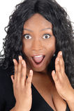 Surprised African woman. Royalty Free Stock Photography
