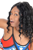 Surprised African woman. Royalty Free Stock Photos
