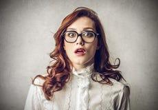 Surprised amazed woman royalty free stock photos