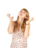 Surprised, angry young woman Royalty Free Stock Photos